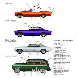 Headlight Splash Seals 30 Clips for 1971-1972 Plymouth Roadrunner & GTX USA Made