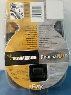 Humminbird Piranha MAX15 One-Touch Fishfinder New Factory Sealed-Made in U. S. A