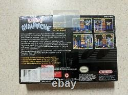 Kirby's Avalanche SNES 1st Print Made in Japan H-Seam FACTORY SEALED WATA VGA