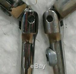 Lot 2 Snap On 1/4 Drive Flex Head Ratchets TX936 Locking TF72 Sealed Made In USA