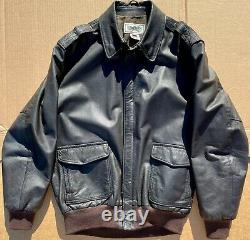 MADE IN USA LL Bean Flying Tiger A2 Leather Jacket 42L Large Tall 42 LT L
