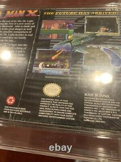 Mega Man X WATA 6.0/B+ New Sealed 1st Print Made In Japan Super Nintendo NES