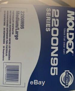 Moldex 2200N Resp Sealed New Made In USA M/L 20/PK