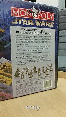 Monopoly Star Wars Classic Trilogy Edition SEALED Made In USA In 1997
