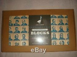 NEW SEALED UNCLE GOOSE 45 PRESIDENTIAL WOOD BLOCKS Crafted 9/15/2016 U. S. A. Made