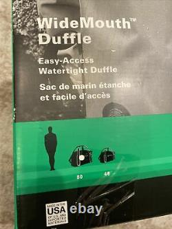 NEW Seal Line Wide Mouth Duffle Dry Bag Black Waterproof Air Tight 80 L USA Made