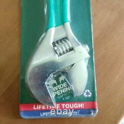 NOS Diamond 12 adjustable wrench sealed unused D712PH USA Made wide opening