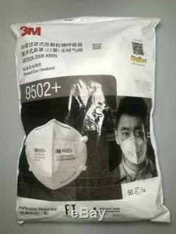New 3M Box of 50 pieces KN95 9502+ New Unopened Sealed Case Made in USA