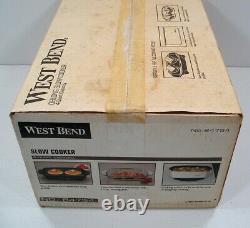 New Vintage West Bend 4 Quart Slow Cooker No. 84754 Made in USA Sealed Unused