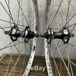 Old School BMX Wheels 24 Rims Sun Made USA Redline Sealed Flip Flop Wheelsmith
