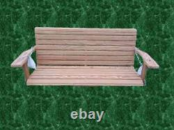 Porch Swing Quality GRG (treated pine) FREE SHIPPING withchain. Made in USA