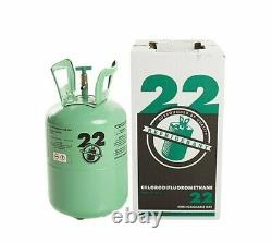 R22 refrigerant 5 lb. Virgin factory sealed made in USA FREE SAME DAY SHIPPING