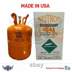 R404a REFRIGERANT GAS 24LB FACTORY SEALED (MADE IN USA)