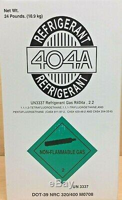 R404a, R-404A R 404 Refrigerant 24LB Tank. New Factory Sealed. Made in USA