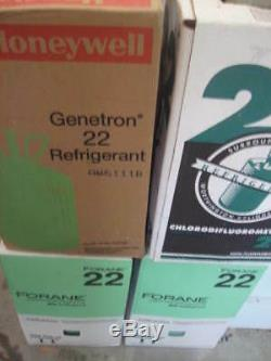 R-22 Freon USA MADE 22 Refrigerant r 22 sealed cap in 37 pound box 1 day ship