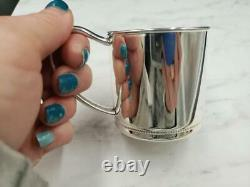 Reed & Barton LUNT Sterling Silver Beaded Edge Baby Cup LX218 Made In USA Sealed