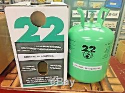 Refrigerant 22, 10 Lb. Can, Made In USA, Factory Sealed, Do-It-Yourself Kit, R22