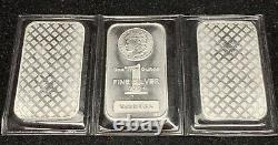 SEALED 3x 1 Troy Ounce. 999 Fine Silver MORGAN Highland Mint Bars MADE IN USA