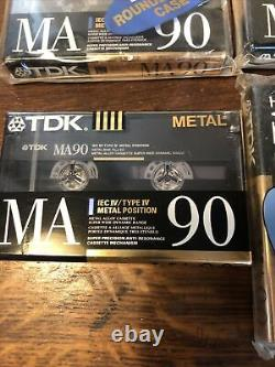 SEALED case 9 TDK MA 90 metal CASSETTE tapes TYPE IV made In USA 1990 audiophile