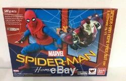SH Figuarts Spider-Man Homecoming Home Made Suit & Iron Man Mark 47 SEALEDUSA
