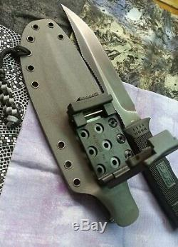 SOG elite largest version off the seal lineup with USA made kydex sheath