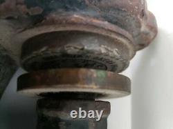 Scroll Handle Antique Cast Iron Lion Head Notary Press Stamp Seal Made In USA