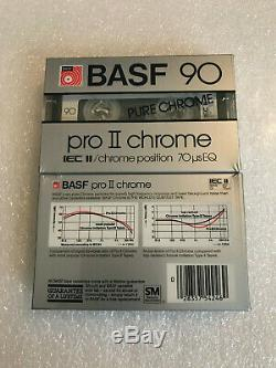 Set of 10 New Sealed BASF 90 PRO II-CR Type II Cassettes Tapes Made In USA
