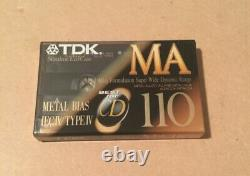 Set of 10 New Sealed TDK MA 110 Tapes Type IV Made In Japan Assembled In USA