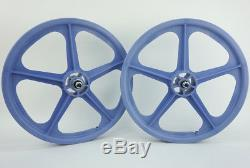 Skyway 20 TUFF WHEELS II old school bmx sealed Mags LAVENDER Made in USA Retro