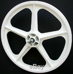 Skyway 20 TUFF WHEELS II old school bmx sealed Mags WHITE Made in the USA Retro