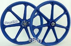 Skyway BMX 24 TUFF WHEELS cruiser Mags in BLUE sealed bearing hubs USA MADE