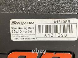 Snap On Tools A1310SB Steel Bearing Race & Seal Driver 10 Piece Set Made USA