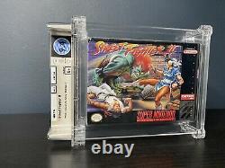 Street Fighter II 1st Print Made in Japan WATA Graded 9.4 B+ SNES Sealed