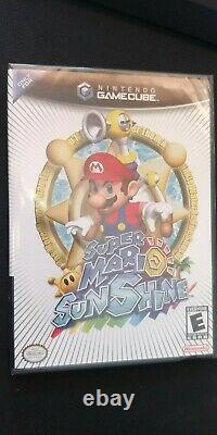 Super Mario Sunshine SEALED Black Label, made in USA. Free Worldwide shipping