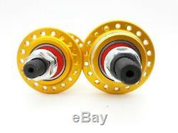 Technique bmx cruiser 26 29 Gold Hub Set sealed bearings USA made