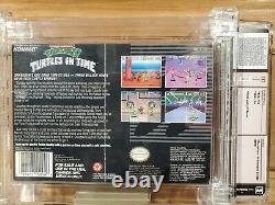 Teenage Mutant Ninja IV 4 Turtles in Time SNES Sealed Made in Japan Wata 9.8 A+