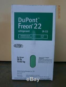USA Made R-22 DUPONT FREON REFRIGERANT 30 pounds NEW SEALED FULL CYLINDER R22