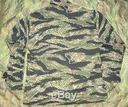 US Tiger Stripe Products Tru Spec Coat Jacke Large USA Made post Vietnam Seals