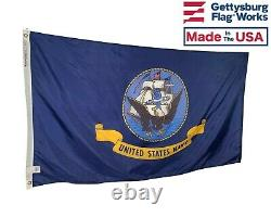 U. S. Navy Flag with Official Seal Durable All Weather Nylon Made in the USA