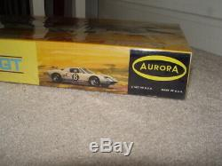Vintage 1965 Aurora Ford Gt Model Kit 1/25 Made in USA Sealed 565-198