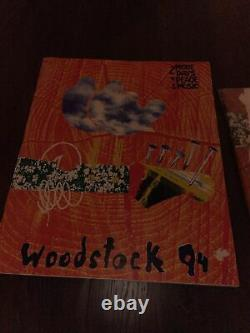Vintage 1994 Woodstock Double Sided White T-shirt Size XL Made In USA SEALED