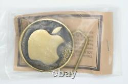 Vintage Apple Computer Logo Belt Buckle NEWithSEALED Brass 1978 Authentic USA Made