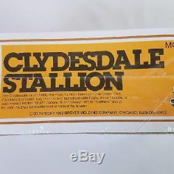 Vintage Breyer Clydesdale Stallion NOS #80 sealed box 1982 Made in USA