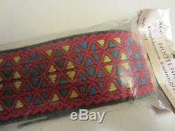 Vintage Genuine ACE Hootenanny Hippie Woven Guitar Strap USA Made Unused Sealed