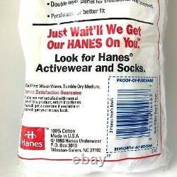 Vintage Hanes Cool Comfort Briefs Made in USA1993 Brand New Sealed Size XL 40-42