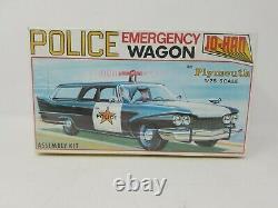 Vintage Jo-Han Police Emergency Wagon Car 1/25 Model Kit Factory Sealed USA MADE