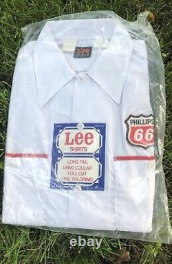 Vintage Phillips 66 Service Station Shirt LEE Made In USA NEW SEALED Small