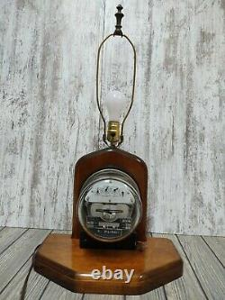 Vintage Sangamo Electric Meter Type JA Table Lamp Steampunk Made in USA with SEAL