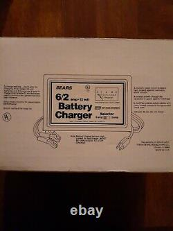 Vintage Sears Multi-use Manual Battery Charger Sealed never opened MADE IN USA