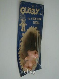 Vintage VERY RARE 1960'S Guggly The good luck troll SEALED Made in the USA
